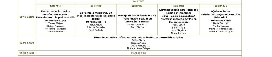 II Jornadas en patologia cutánea en AP